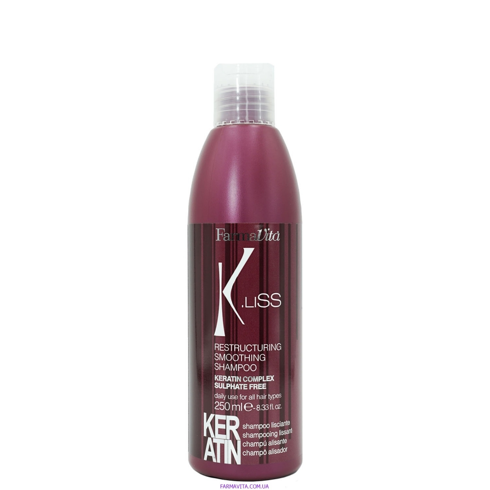 K.Liss Выпрямляющий шампунь с кератином  250 ml